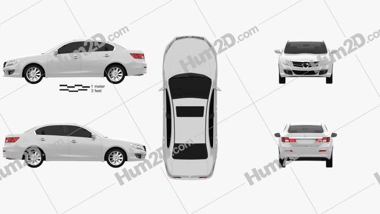 Trumpchi GA5 2013 car clipart