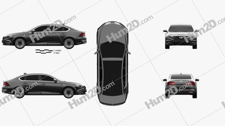 Trumpchi GA8 2016 car clipart