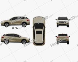 Trumpchi GS4 2015 car clipart