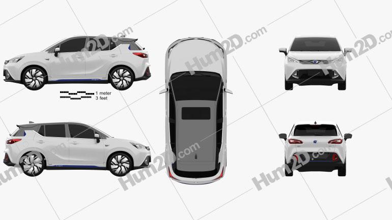 Trumpchi GE3 2017 car clipart