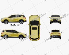 Trumpchi GS3 2017 car clipart