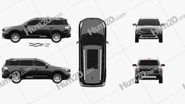 Trumpchi GS8 2016 car clipart
