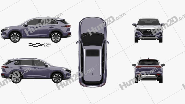 Trumpchi GS5 2018 car clipart