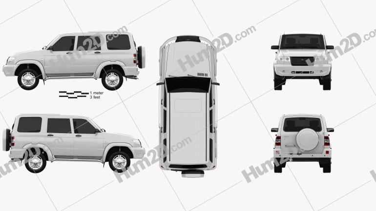 UAZ Patriot (3163) 2012 car clipart