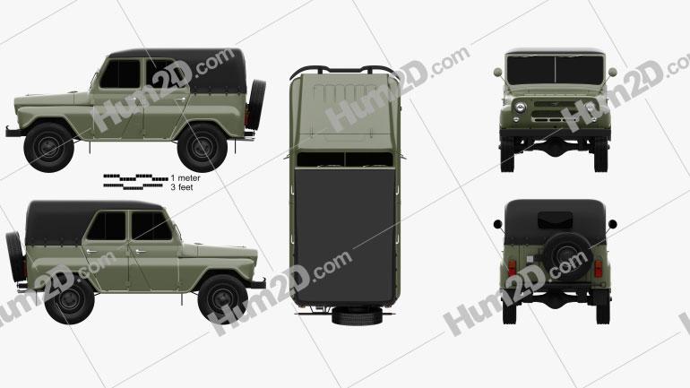 UAZ 469 B 1972 car clipart