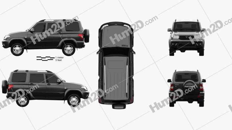 UAZ Patriot (3163) 2014 car clipart