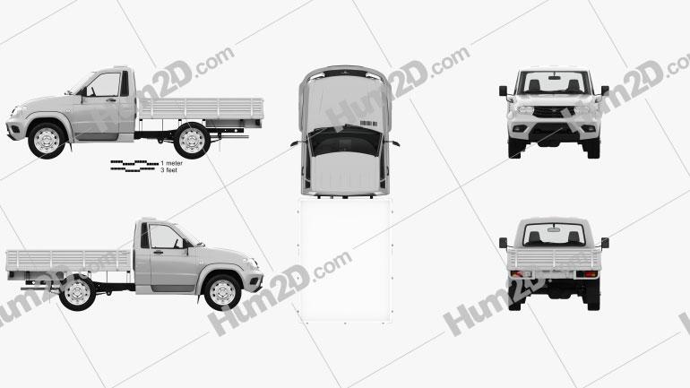 UAZ Patriot Cargo with HQ interior 2014 car clipart