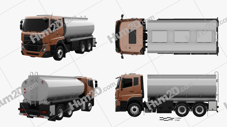 UD Trucks Quester Tanker Truck 2013