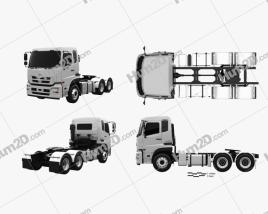 UD Trucks Quon GW Tractor Truck 2010 Clipart
