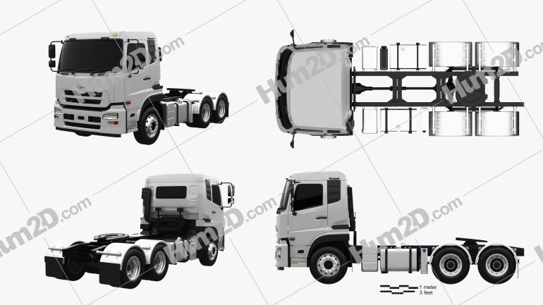 UD Trucks Quon GW Tractor Truck 2010