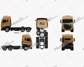 UD Trucks Quester Tractor Truck 2013 Clipart