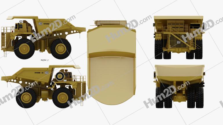 Unit Rig MT5300D AC Dump Truck 2012 Clipart Image