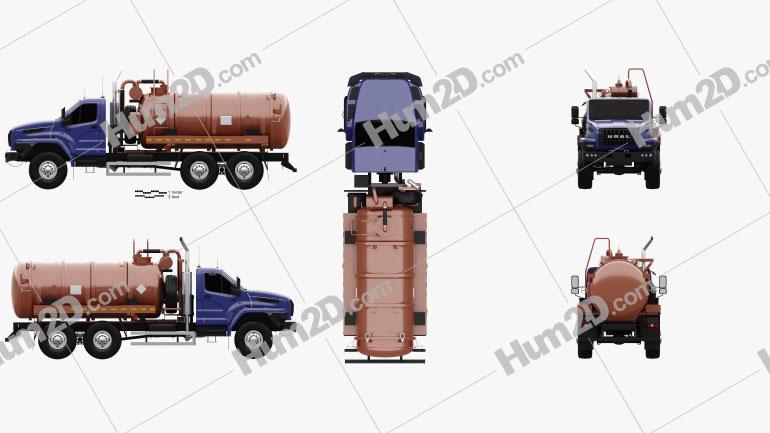 Ural Next Tanker Truck 2015 clipart
