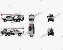 Ural Next Crane Truck 2015 clipart