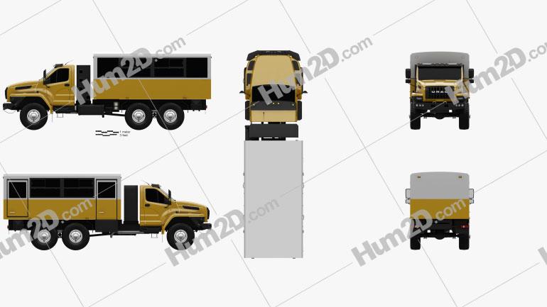 Ural Next Crew Truck 2016 clipart