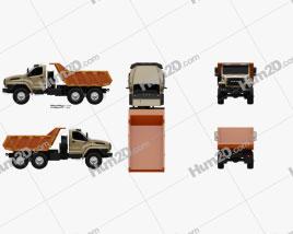 Ural Next Dumper Truck 2016 clipart