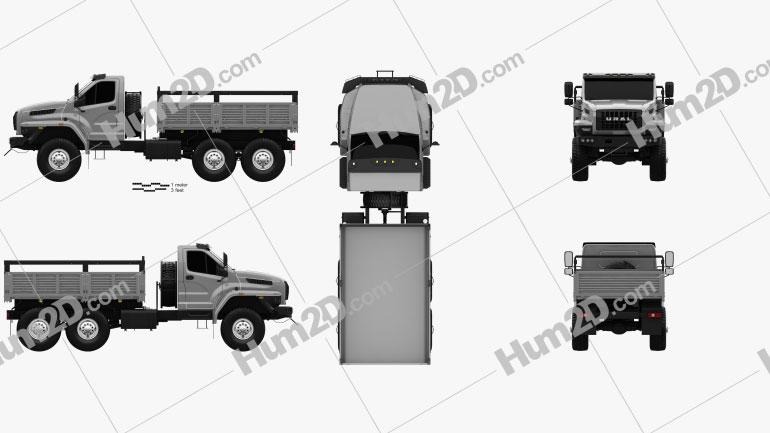 Ural Next Flatbed Truck 2016 clipart