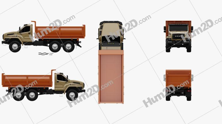 Ural Next Tipper Truck 2016 clipart
