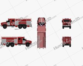 Ural Next Fire Truck AC-60-70 2018 clipart