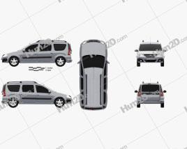 Lada Largus 2012 clipart