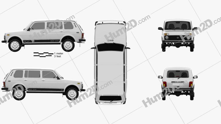Lada Niva 4×4 2131 2012 car clipart
