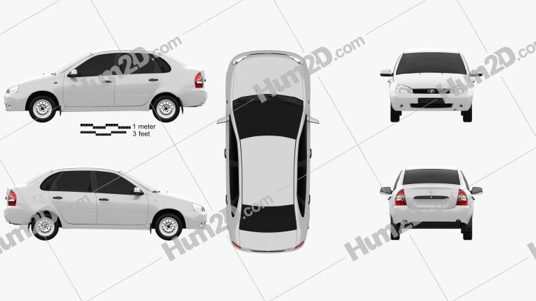 Lada Kalina (1118) sedan 2011 car clipart