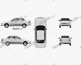 Lada Priora 2170 sedan 2012 car clipart