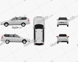 Lada Priora 2171 wagon 2012 car clipart