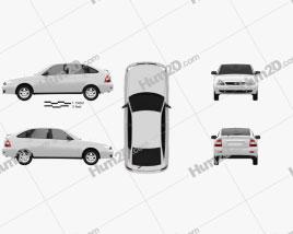 Lada Priora 2172 hatchback 2012 car clipart
