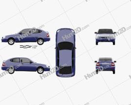 Lada Priora 21728 coupe 2012 car clipart