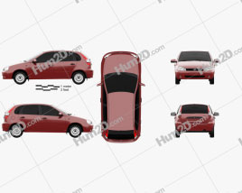 Lada Kalina (1119) hatchback 2011 car clipart