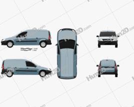 Lada Largus Van 2012 Clipart