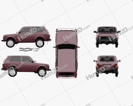 Lada Niva 4×4 21214 2012 car clipart