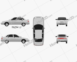 VAZ Lada 2110 sedan 1995 car clipart