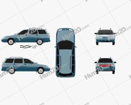 VAZ Lada 2111 wagon 1995 Clipart