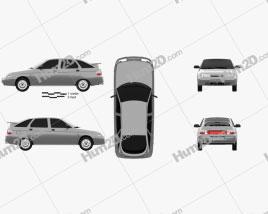 VAZ Lada 2112 hatchback 1995 car clipart