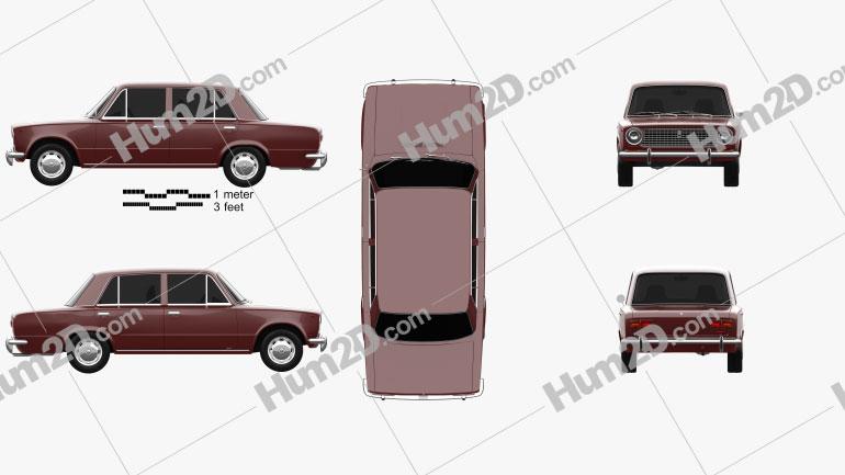 VAZ Lada 2101 1970 car clipart