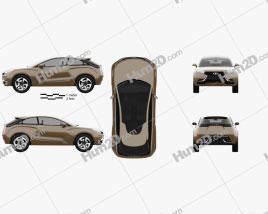 Lada XRAY 2012 Concept Clipart