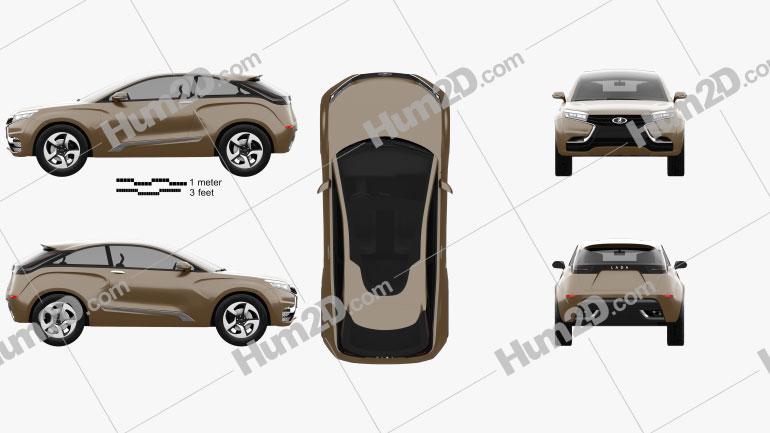 Lada XRAY 2012 Konzept car clipart