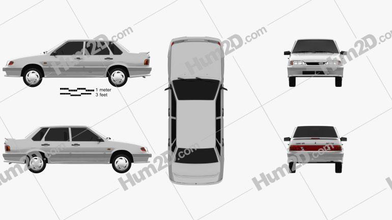 VAZ Lada Samara (2115) sedan 1997 car clipart