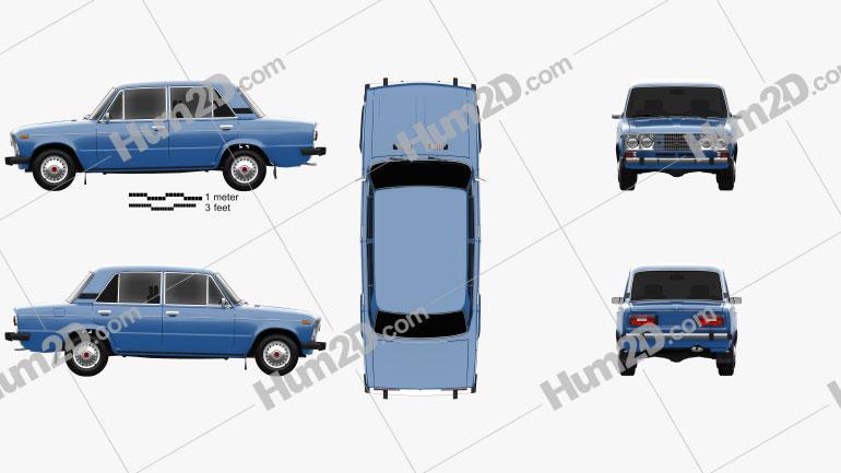 VAZ Lada 2106 1976 car clipart