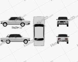 VAZ Lada 2105 1997 car clipart