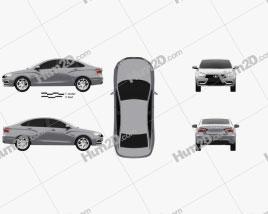 VAZ Lada Vesta 2014 car clipart