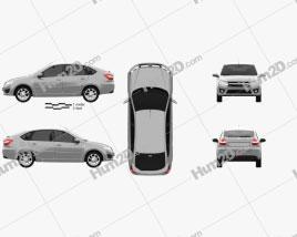 Lada Granta liftback 2014 Clipart