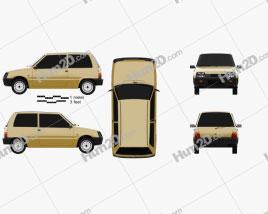 Lada Oka 1111 1989 car clipart