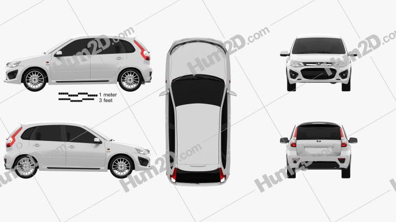 Lada Kalina (2192) Sport 2014 car clipart