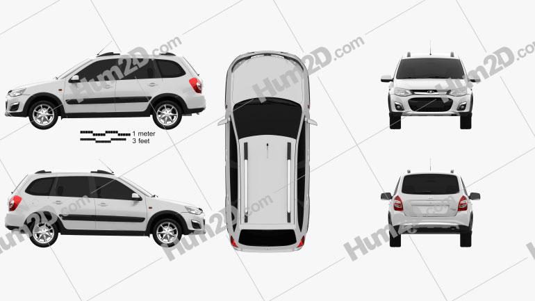 VAZ Lada Kalina (2194) Cross 2014 car clipart