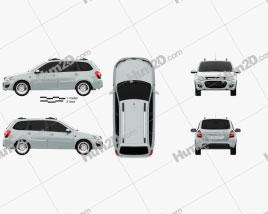 VAZ Lada Kalina (2194) Wagon 2014 car clipart