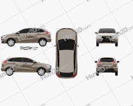 VAZ Lada XRAY Сoncept 2014 car clipart
