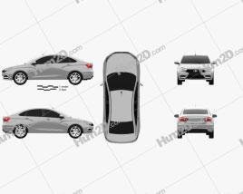 VAZ Lada Vesta (GFL) 2015 car clipart